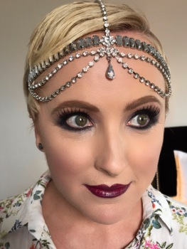 Gatsby Flapper Makeup, makeup and hair by makeup by jacquelyn, melbourne makeup artist